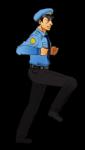 Police Running Man